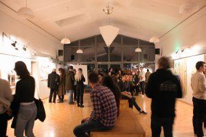 Kunst Vernissage Part beim AV Hütte Stuttgart